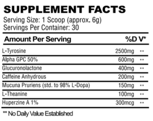 NooWave High Performer Ingredients