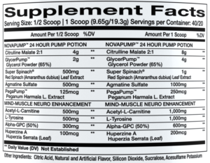 NovaPump Neuro Ingredients