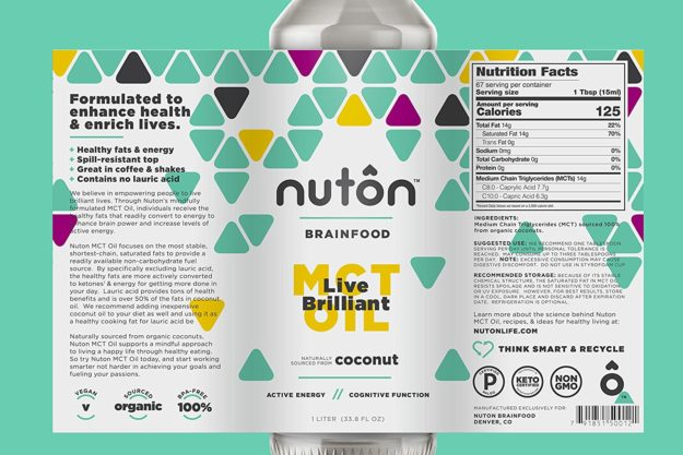 Nuton Brainfood Label