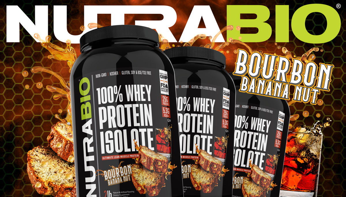 NutraBio 100% Whey Protein Isolate Bourbon Banana Nut: Limited Edition Flavor!