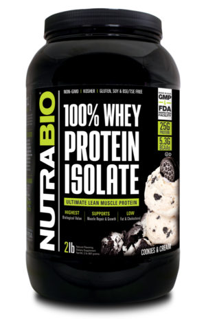 NutraBio 100% Whey Isolate Ice Cream Cookie Dream