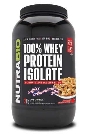 NutraBio 100% Whey Protein Isolate Miss American Pie 2021 Tub