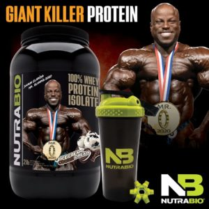 Shaun Clarida 100% Whey Isolate! NutraBio Celebrates Shaun Clarida's Mr. Olympia Victory