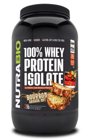 NutraBio 100% Whey Protein Isolate Bourbon Banana Nut