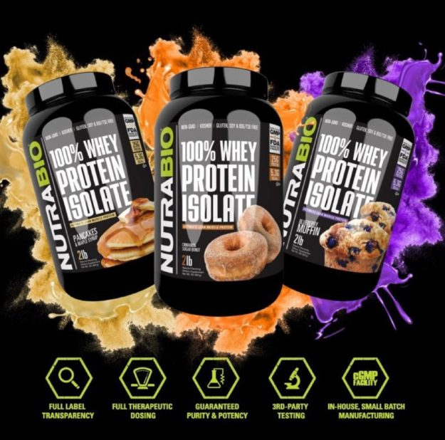 NutraBio 100% Whey Protein Isolate Breakfast Flavors