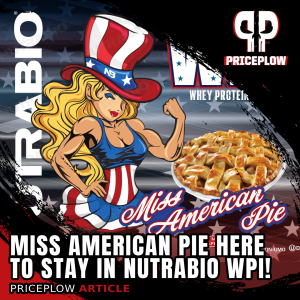 NutraBio 100% Whey Protein Isolate Miss American Pie