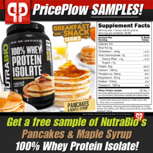 NutraBio 100% Whey Protein Isolate Pancakes & Maple Syrup Free Sample