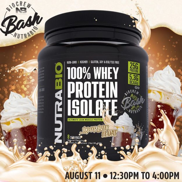 NutraBio 100% Whey Protein Isolate Root Beer Float