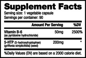 NutraBio 5-HTP Ingredients