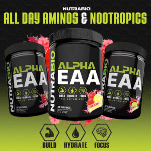 NutraBio Alpha EAA Strawberry Lemon Bomb