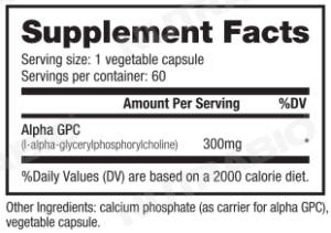 NutraBio Alpha-GPC Ingredients