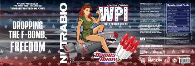 NutraBio Bombs Away WPI Label