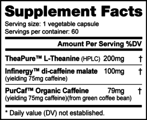 NutraBio Caff Plus Ingredients