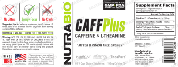 NutraBio Caff Plus Label