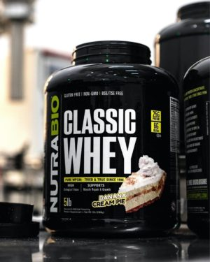 NutraBio Classic Whey Banana Cream Pie Graphic