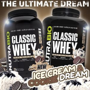 NutraBio Classic Whey Ice Cream Cookie Dream