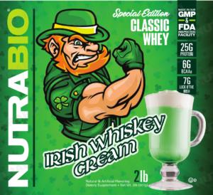 NutraBio Classic Whey Irish Whiskey Cream