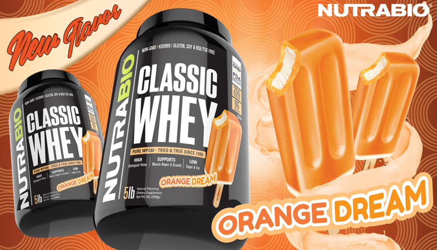 The Dream is Real: NutraBio Classic Whey Orange Dream!