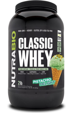 NutraBio Classic Whey Pistachio Delight