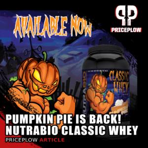 NutraBio Classic Whey Pumpkin Pie