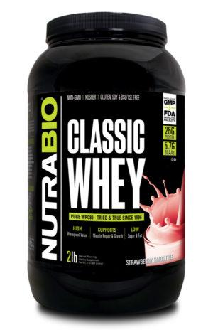 NutraBio Classic Whey Strawberry