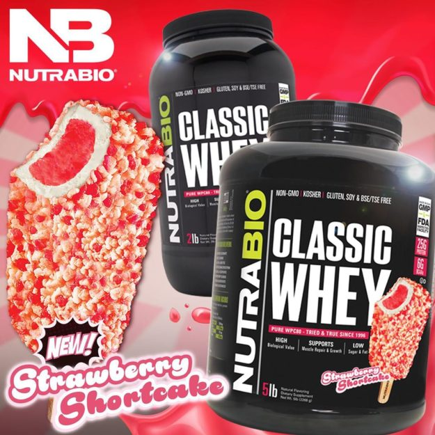 NutraBio Classic Whey Strawberry Shortcake