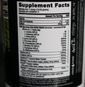 NutraBio EAA Energy Ingredients