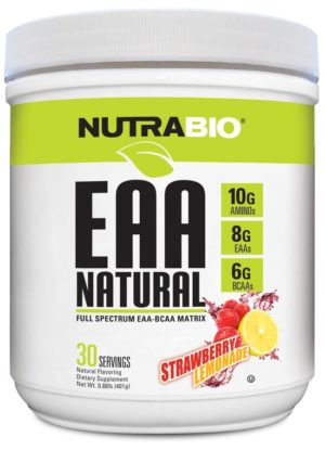 NutraBio EAA Natural Strawberry Lemonade