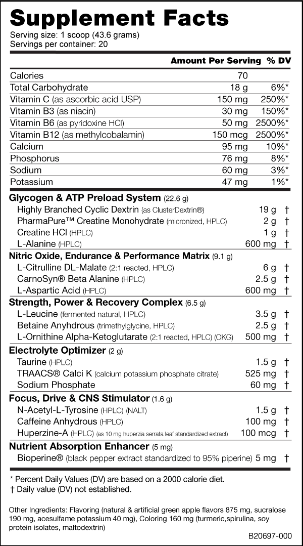 NutraBio Fighter Fuel Ingredients