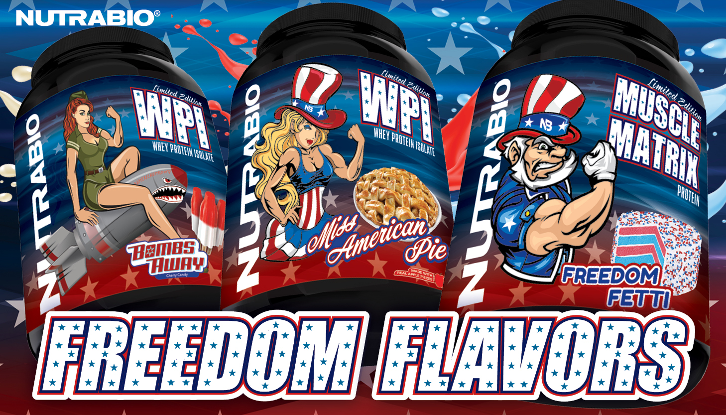Get a Taste of FREEDOM with NutraBio's 4th of July Freedom Flavors!