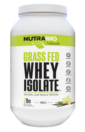 NutraBio Naturals Grass-Fed Whey Isolate