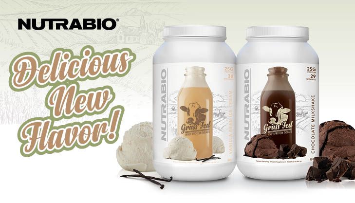 NutraBio Grass-Fed Whey Protein Isolate Flavors Get Upgraded!