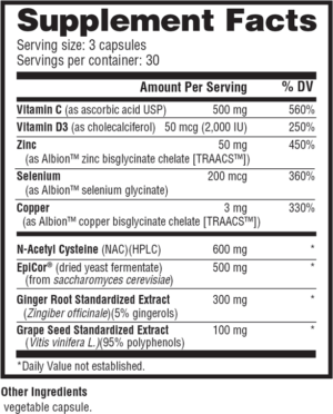 NutraBio Immune Ingredients