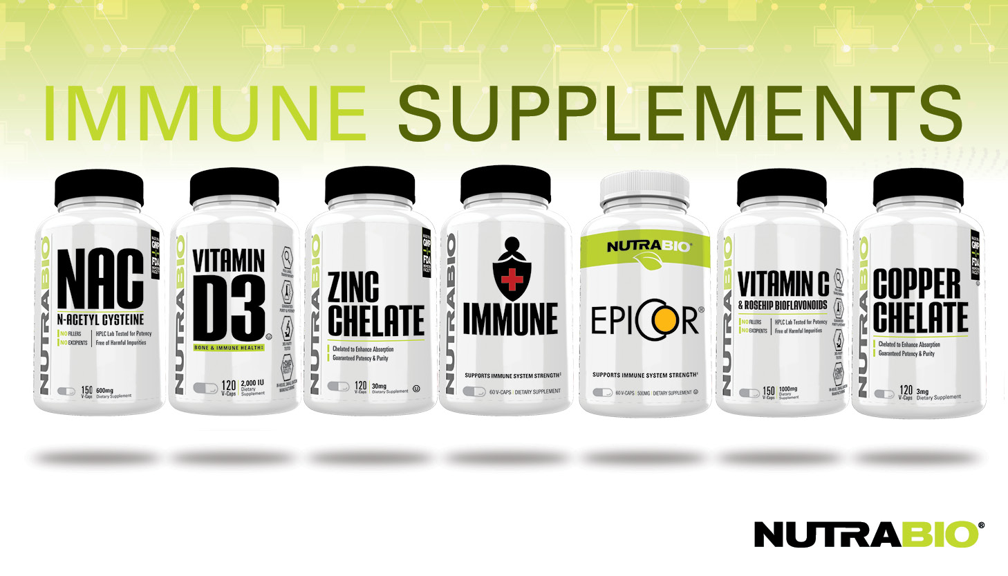 NutraBio Immune Supplements: Give Your Immune System the Weapons it Wants!