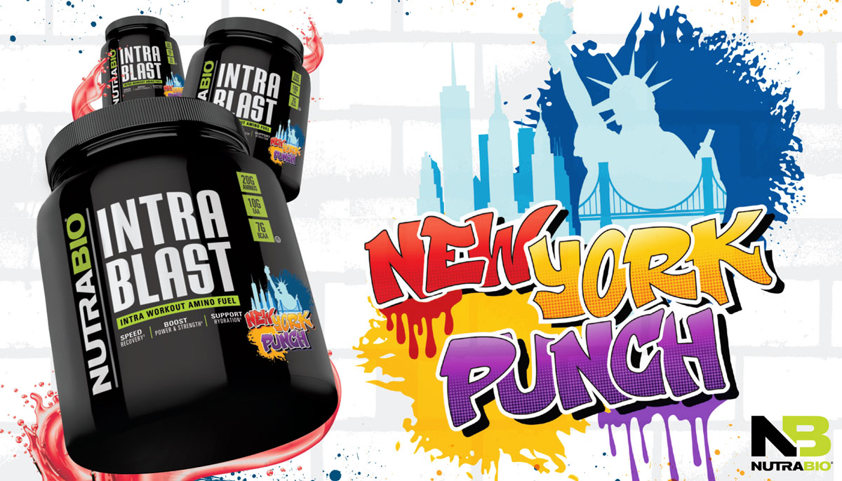 NutraBio Intra Blast New York Punch – The BEST Flavor – Goes Worldwide!