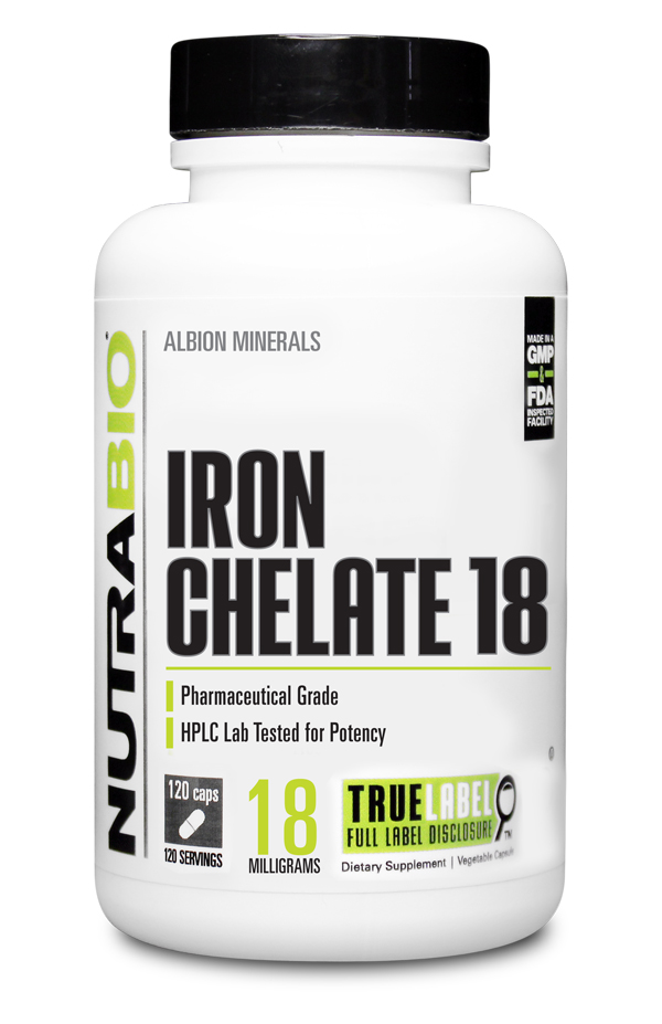 NutraBio Iron 18mg