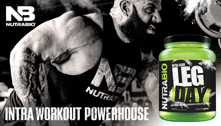 It's LEG DAY! NutraBio's Intra Workout Powerhouse Supplement is Here!