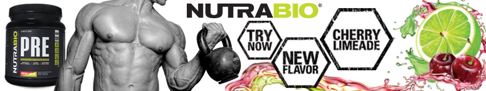 NutraBio Pre Workout: Now in Cherry Limeade!
