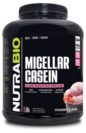 NutraBio Micellar Casein Strawberry
