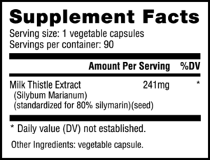 NutraBio Milk Thistle Ingredients