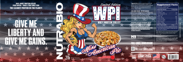 NutraBio Miss American Apple Pie Label
