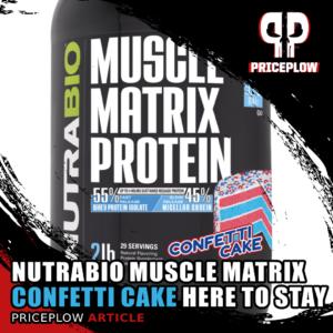 NutraBio Muscle Matrix Confetti Cake