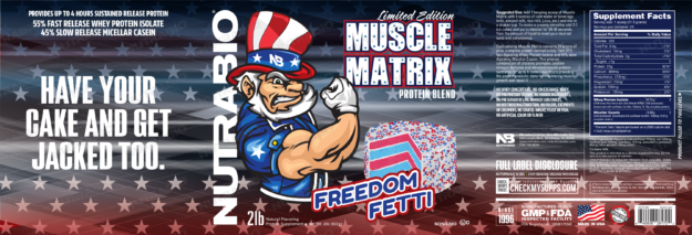 NutraBio Muscle Matrix Freedom Fetti Label