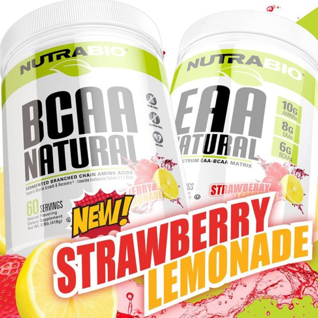 NutraBio Natural Strawberry Lemonade