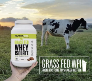 NutraBio Naturals Grass-Fed Whey Isolate Cow