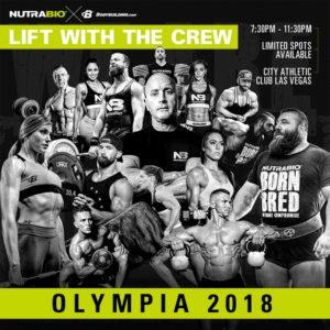NutraBio Olympia 2018