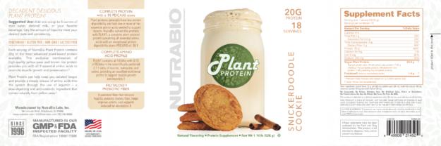 NutraBio Plant Protein Label