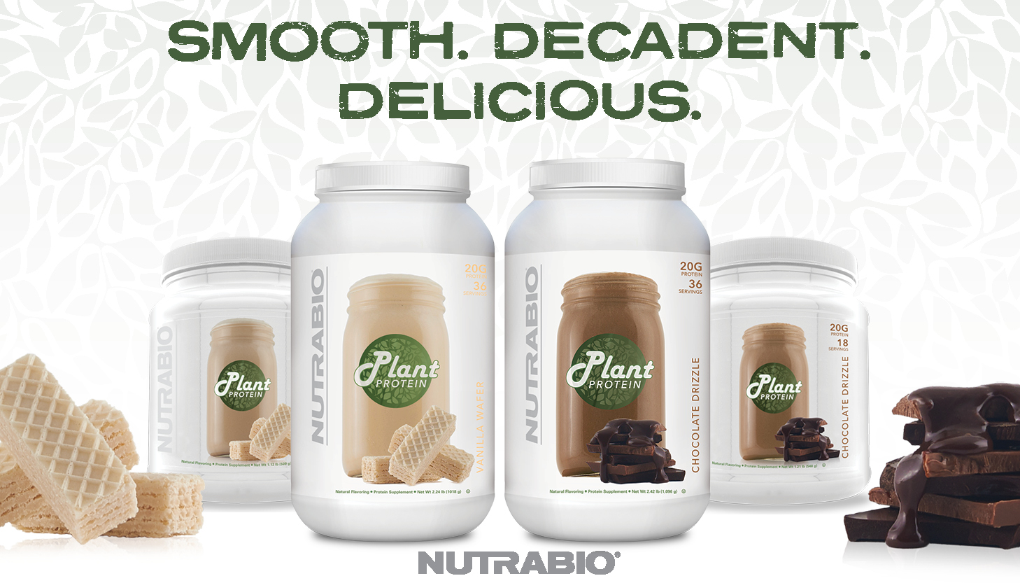 NutraBio Plant Protein is Now in Chocolate Drizzle and Vanilla Wafer!