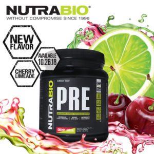 NutraBio PRE: The Top PRE Workout Now in Cherry Limeade!