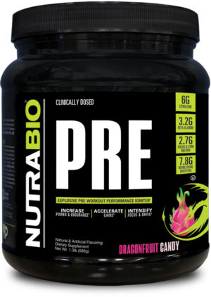 NutraBio Pre Workout Dragon Fruit